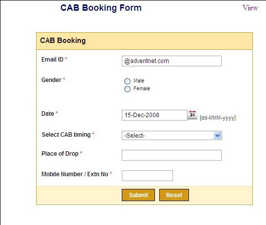booking a cab